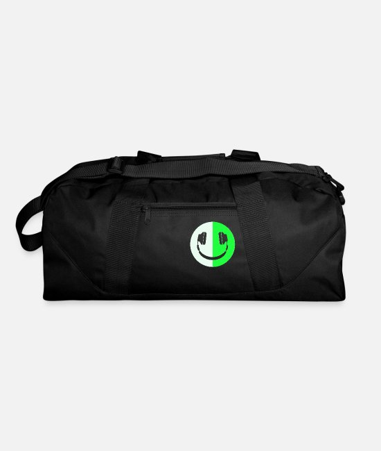 Headphones Bags & Backpacks - Glow In The Dark Headphone Smiley - Duffle Bag black