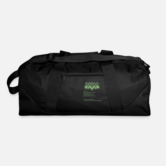 Code Bags & Backpacks - Drinking Code - Duffle Bag black