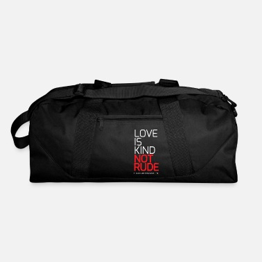 Couple Marriage Spiritual LOVE IS KIND NOT RUDE - Duffle Bag