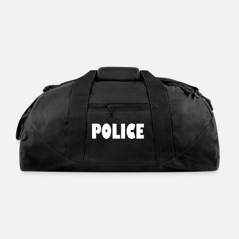 Logo Bags Backpacks Police Duffle Bag Black