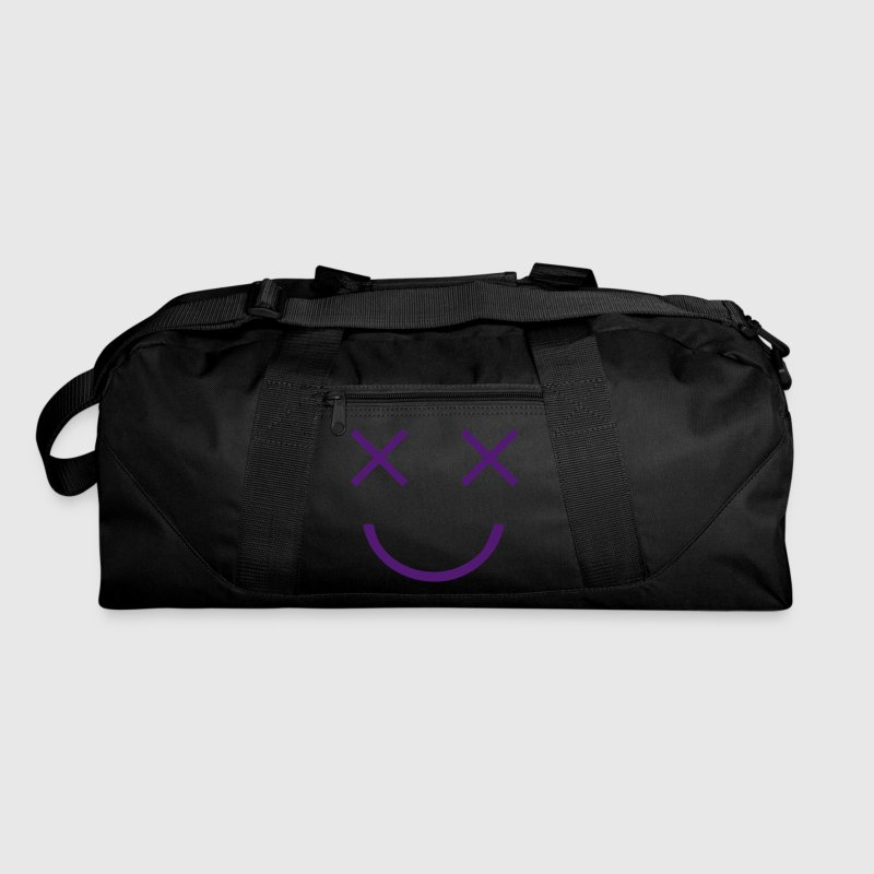 FUNNY FACE two crosses dead cartoon eyes with smile - Duffel Bag