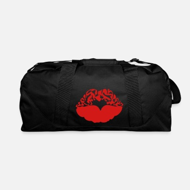 Deadly Sexy Vampire Luscious Red Lips Design For ♥ټXxSexy Tattooed Luscious Sensual Lips xXټ♥ - Duffle Bag