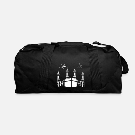 Arabic Bags & Backpacks - Mecca Arabic writing Muslim Arab Islam - Duffle Bag black
