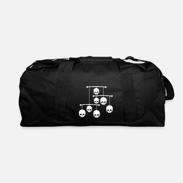 Mobile mobile with white skulls - Duffel Bag