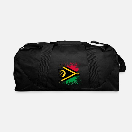 Patriot Bags & Backpacks - Vanuatu flag paint splashes - Duffle Bag black