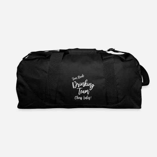 Drinking Bags & Backpacks - Team Bride Drinking Team present - Duffle Bag black