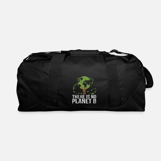 Love Bags & Backpacks - There Is No Planet B Save Earth Day Nature Gift - Duffle Bag black