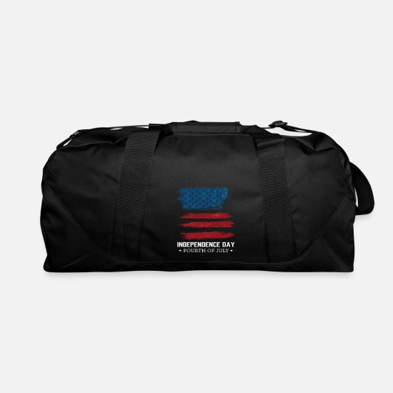 Fireworks Bags & Backpacks - Independence Day 4th July American Flag Gift - Duffle Bag black