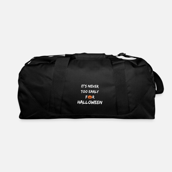 Never Bags & Backpacks - It's never too early for Halloween - Duffle Bag black