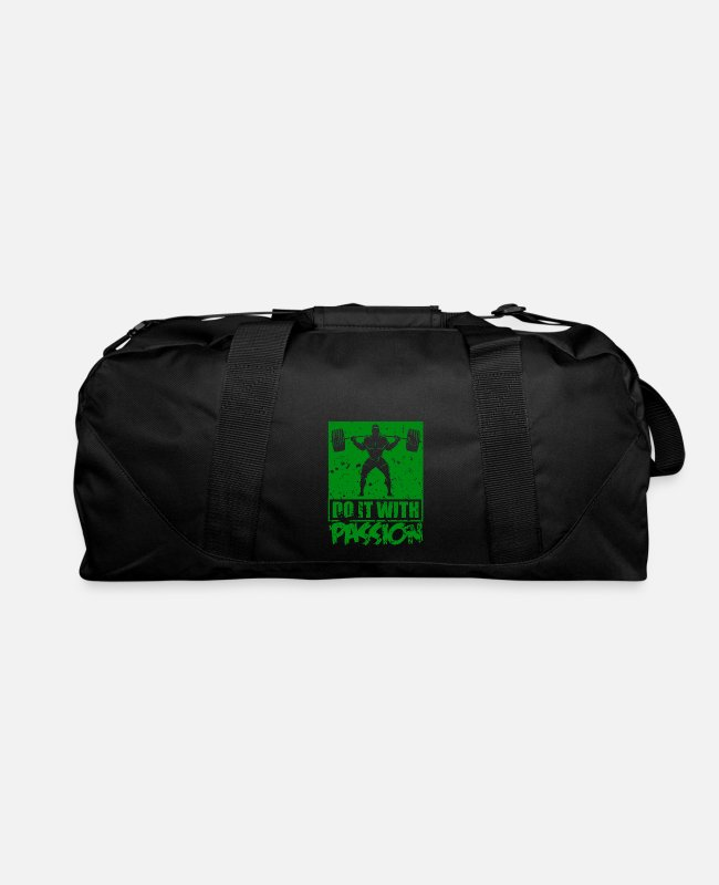 Passion Bags & Backpacks - do it with passion - Duffle Bag black