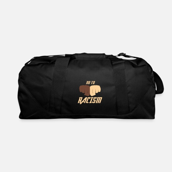 Anti Racism Bags & Backpacks - No To Racism - Anti Racism Against Racism Gift - Duffle Bag black