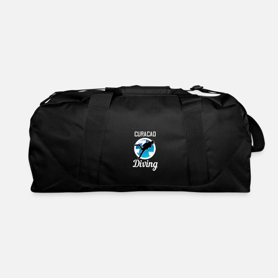 Water Sports Bags & Backpacks - Curacao diving divers water sports - Duffle Bag black