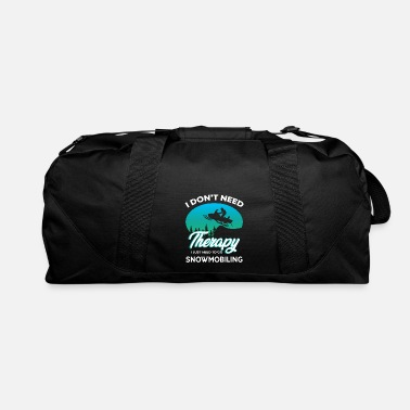 Mobile Snow Mobile is my Therapy - Duffel Bag