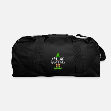 Crest I m The Sassy Elf Matching Family Group Christmas - Duffel Bag