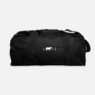 Cow Heartbeat Cow Heartbeat - Farmers Cow - Duffle Bag
