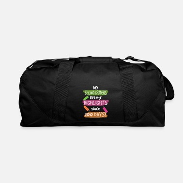 Kindergarten 2nd Graders My Highlights 100 Days Teacher Shirt - Duffel Bag