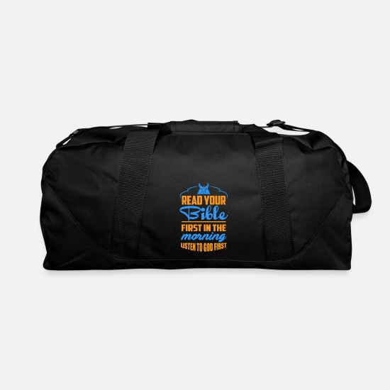 Bible Bags & Backpacks - Read Your Bible In The Morning - Duffle Bag black