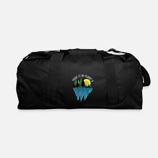Climate Bags & Backpacks - There No Planet B Earths Day Natur Recycling Gift - Duffle Bag black