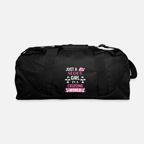 Korea Bags & Backpacks - Seoul South Korea Cruise - Duffle Bag black