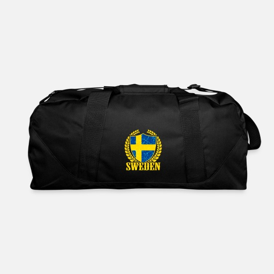 Sweden Swedish Flag Scandinavian Gift Duffel Bag Black