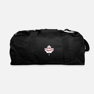 Maple Leaf Love Canada design With Maple Leaf Saying Heart - Duffle Bag