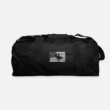 Bull Riding USA Flag - Duffle Bag