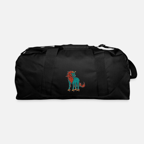 Martial Arts Bags & Backpacks - Qilin Shaolin Temple Kung Fu Tibet dragon gift - Duffle Bag black