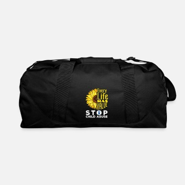 Abuse Every Life Has Value Stop Child Abuse - Duffle Bag
