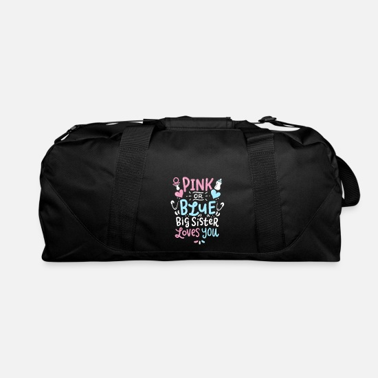 Gender Bags & Backpacks - Gender Reveal Big Sister - Duffle Bag black