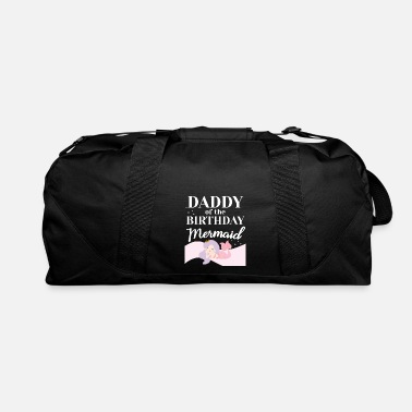 Birthday Mermaid Party Matching Daddy of the Birthday - Duffle Bag