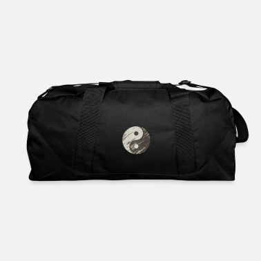 Chinese Symbols Yin Yang Black White Symbol Good Bad Balance - Duffle Bag