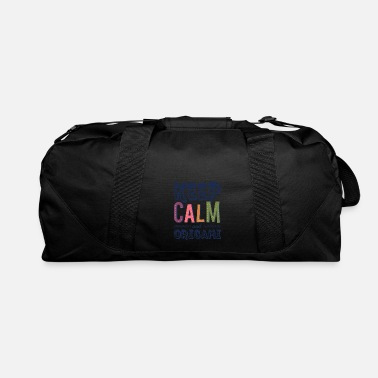 Paper Keep Calm And Origami Paper Folding - Duffle Bag