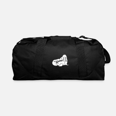 Seal Walrus Retro Text - Duffle Bag