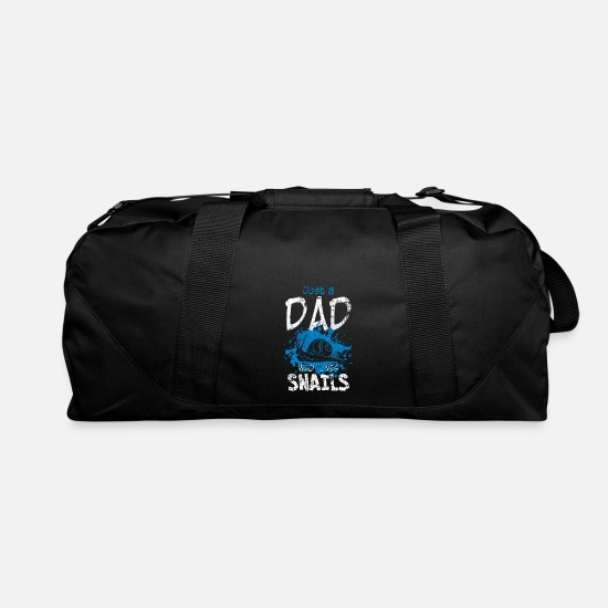 Snail Bags & Backpacks - Snail dad - Duffle Bag black