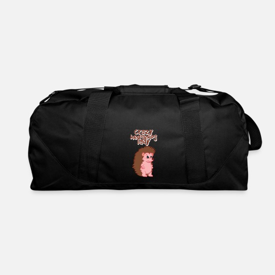 Mother's Day Bags & Backpacks - Funny Hedgehog Gifts For Women and Kids - Duffle Bag black