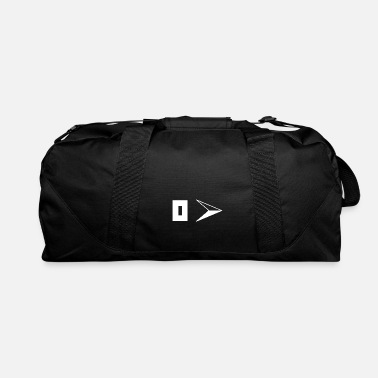 East East symbol compass white - Duffle Bag