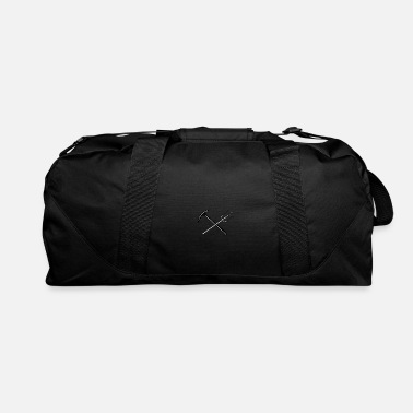 Ice Axe Crossed Mountain Ice Axe and Trident Icon - Duffle Bag