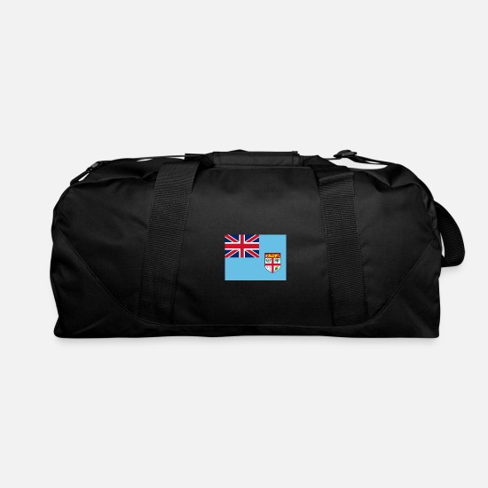 Fiji Bags & Backpacks - Flag of Fiji (fj) - Duffle Bag black
