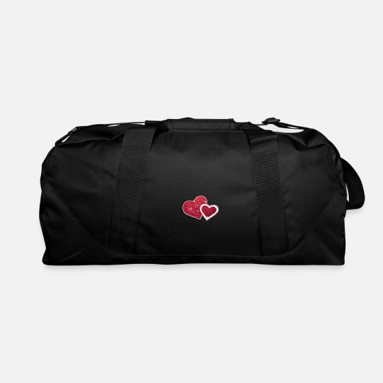 Heart Bags & Backpacks - Hearts - Duffle Bag black