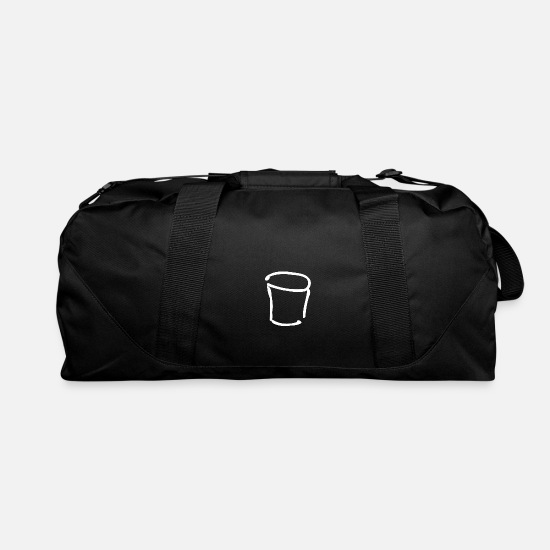 Symbol  Bags & Backpacks - bucket sketch - white - Duffle Bag black
