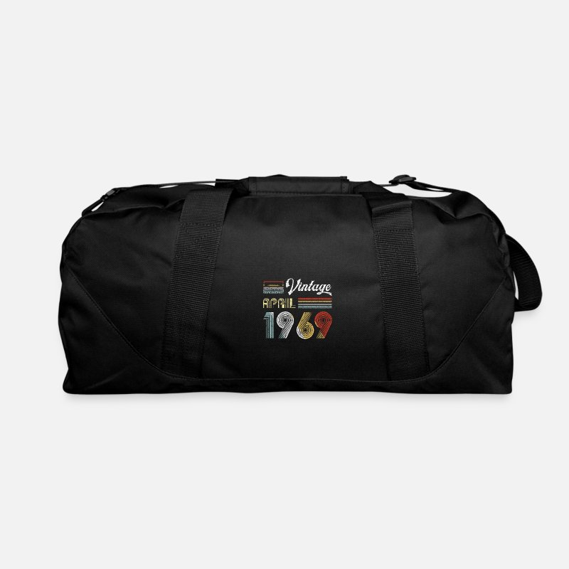1969 Bags & backpacks - Vintage April 1969 50th Birthday Retro 80s Style - Duffle Bag black