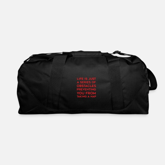 Movie Bags & Backpacks - Life Is Just A Series Of Obstacles - Duffle Bag black