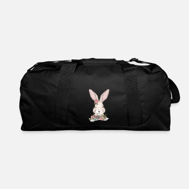 Ornament dreaming rabbit with flowers ornament - Duffle Bag