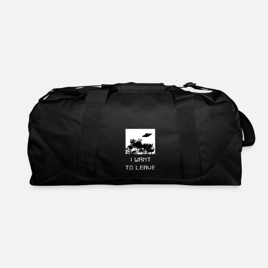Conspiracy Bags & Backpacks - I want to leave - UFO - Duffle Bag black