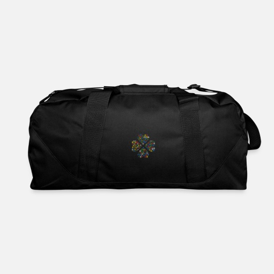 Christmas Bags & Backpacks - Snow Wordcloud of a clover form (christmas) - Duffle Bag black