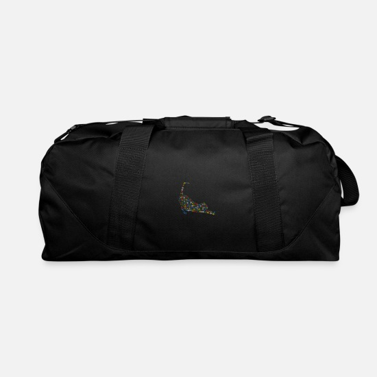 Christmas Bags & Backpacks - Snow Wordcloud of a stretching form (christmass) - Duffle Bag black