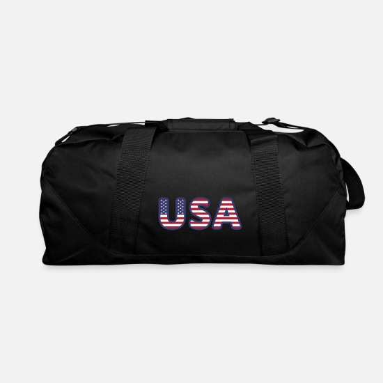 Country Bags & Backpacks - USA United States of America logo - Duffle Bag black
