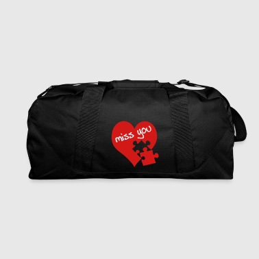 miss you / red heart - Duffel Bag
