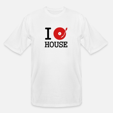 Stereo I dj / play / listen to house - Men's Tall T-Shirt