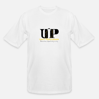 Unity Percussion Full Logo (Black) - Men's Tall T-Shirt